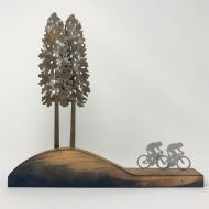 David Mayne 'The Race' Oxidised Steel Sculpture
